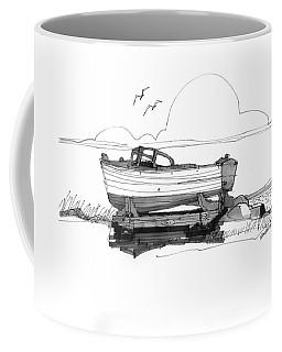 Dry Dock In Ocracoke Nc 1970s Coffee Mug