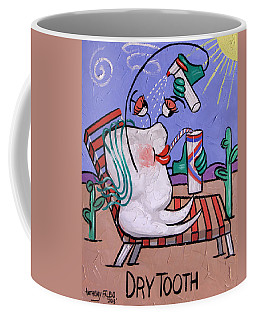 Coffee Mug featuring the painting Dry Tooth Dental Art By Anthony Falbo by Anthony Falbo