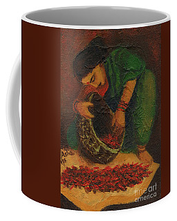 Drying Chillies Coffee Mug