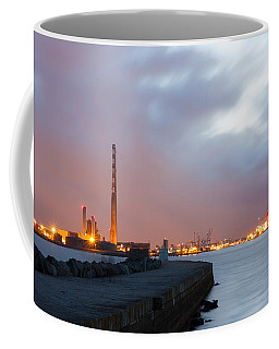 Dublin Port At Night Coffee Mug by Semmick Photo