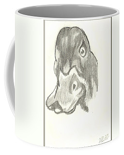 Duck Bill In Pencil Coffee Mug