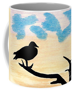 Coffee Mug featuring the drawing Duck Sunset by D Hackett