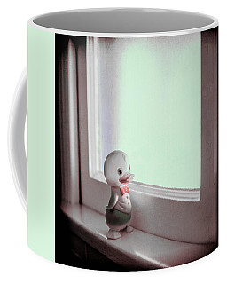 Duckie At The Window Coffee Mug