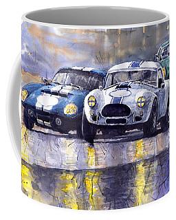 Duel Ac Cobra And Shelby Daytona Coupe 1965 Coffee Mug