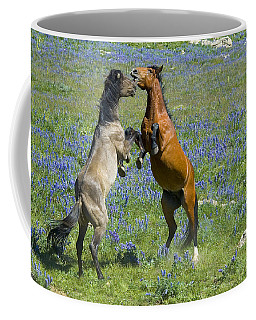 Dueling Mustangs Coffee Mug