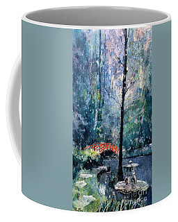 Duke Gardens Watercolor Batik Coffee Mug by Ryan Fox