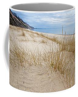 Coffee Mug featuring the photograph Dune Grass On Lake Michigan by Mary Lee Dereske