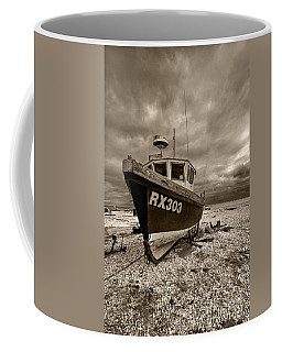 Dungeness Boat Under Stormy Skies Coffee Mug