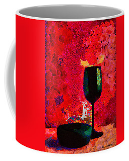 Coffee Mug featuring the digital art Duo by Karo Evans