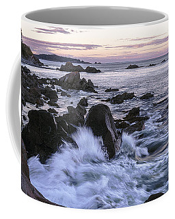 Dusk At West Quoddy Head Light Coffee Mug by Marty Saccone