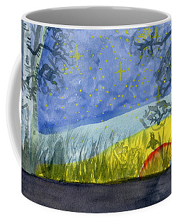Dusky Scene Of Stars And Beans Coffee Mug
