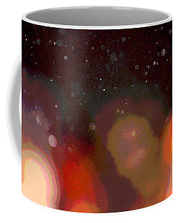 Coffee Mug featuring the photograph Dust And Bright Lights by Nadalyn Larsen