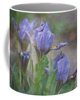 Coffee Mug featuring the photograph Dwarf Iris With Texture by Patti Deters
