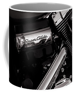 Coffee Mug featuring the photograph Dyna Super Glide Custom by Bob Orsillo