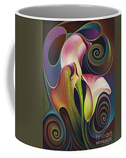 Dynamic Floral 4 Cala Lillies Coffee Mug