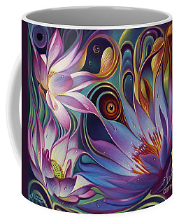 Dynamic Floral Fantasy Coffee Mug