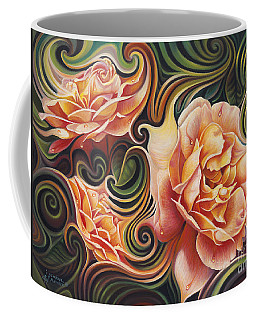 Dynamic Floral V  Roses Coffee Mug