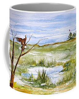 An Eagle At East Point  Coffee Mug by Nancy Patterson
