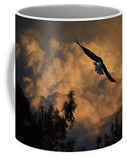 Eagle Flying Into The Storm Coffee Mug