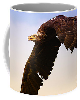 Coffee Mug featuring the photograph Eagle In Flight by Nick  Biemans