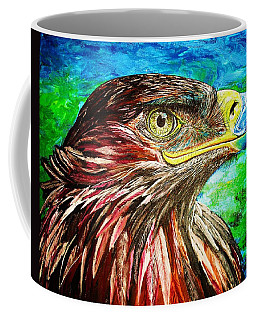 Coffee Mug featuring the painting Eagle by Viktor Lazarev