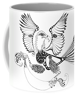 Eagle With A Banner Coffee Mug by Melinda Dare Benfield