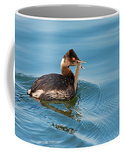 Eared Grebe And Fish Coffee Mug