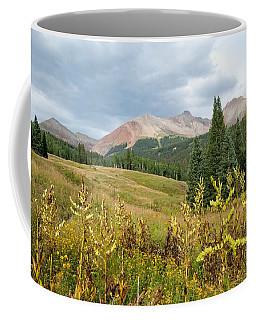 Coffee Mug featuring the photograph Early Autumn In The San Juans -  Mount Wilson And Wilson Peak by Cascade Colors