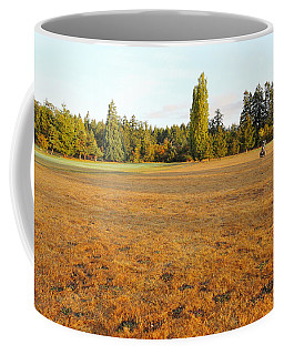 Early Fall Morning In The Rough On The Golf Course Coffee Mug