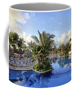 Coffee Mug featuring the photograph Early Morning At The Pool by Teresa Zieba