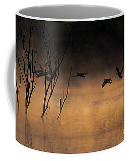 Early Morning Flight Coffee Mug by Elizabeth Winter