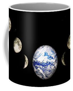 Earth And Phases Of The Moon Coffee Mug