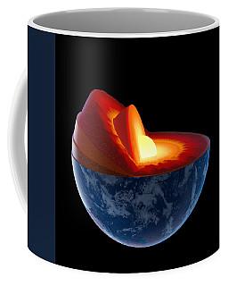 Earth Core Structure - Isolated Coffee Mug