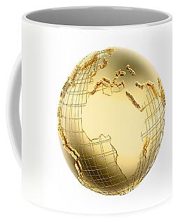 Earth In Gold Metal Isolated - Africa Coffee Mug