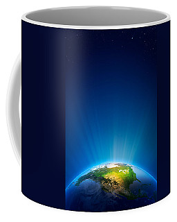Earth Radiant Light Series - North America Coffee Mug