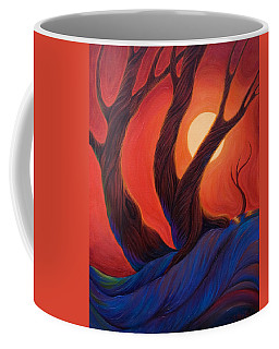 Coffee Mug featuring the painting Earth  Wind  Fire by Sandi Whetzel