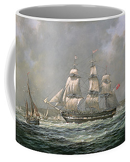East Indiaman Hcs Thomas Coutts Off The Needles     Isle Of Wight Coffee Mug
