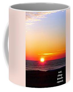 East. Sleep. Beach Sunrise Coffee Mug