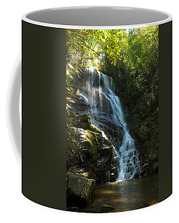 Coffee Mug featuring the photograph Eastatoe Falls North Carolina by Charles Beeler