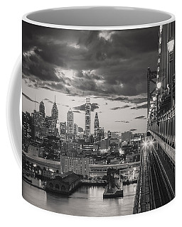 Eastbound Encounter In Black And White Coffee Mug by Eduard Moldoveanu