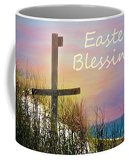 Easter Blessings Cross Coffee Mug