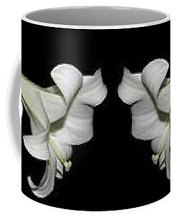 Coffee Mug featuring the photograph Easter Lilies Panorama by Rose Santuci-Sofranko