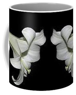 Easter Lilies Panorama Coffee Mug by Rose Santuci-Sofranko