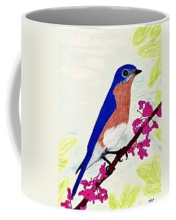 Coffee Mug featuring the drawing Florida - Eastern - Blue Bird by D Hackett