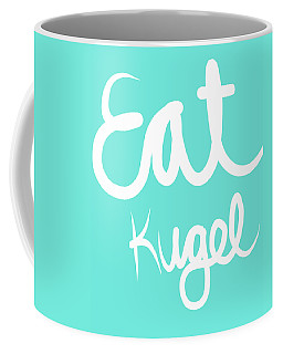 Eat Kugel - Blue And White Coffee Mug