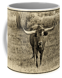 Eat Leaf Not Beef Sepia Coffee Mug by Priscilla Burgers