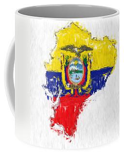 Ecuador Painted Flag Map Coffee Mug by Antony McAulay