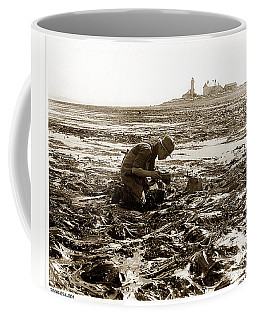 Ed Ricketts At Point Wilson Lighthouse In Port Townsend Wa July 1930 Coffee Mug