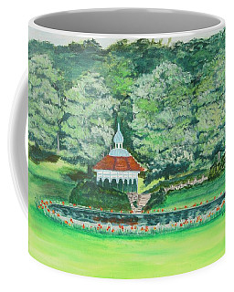 Coffee Mug featuring the painting Eden Park  Cincinnati Ohio by Diane Pape