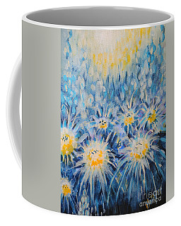 Coffee Mug featuring the painting Edentian Garden by Holly Carmichael